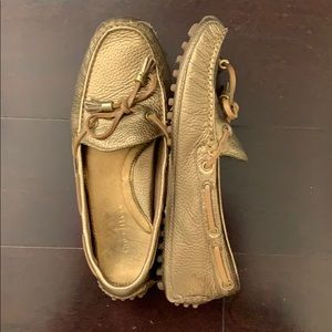 Cole haan grant metallic tassel shoes (size 7)